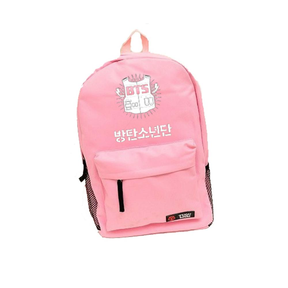 ФОТО backpack BTS fluorescent color female youth with a bullet proof schoolbag   Bag FREE SHIPPING