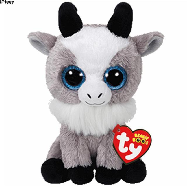 a9c3b9fc821 iPiggy Ty Beanie Boos 6   15cm Gabby the Goat Plush Regular Soft Big-eyed Stuffed  Animal Collection Doll Toy