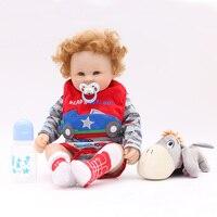 Otarddolls 20''50cm Silicone bebe rebron Baby Doll boneca Reborn Babies Lifelike Girl's toys For Kids Christmas Birthday Gift