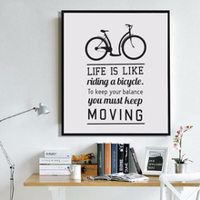 Bike Motivational Quotes Life is Bike..Canvas Painting Poster Wall Art Canvas Prints Pictures For Living Room Home Decor