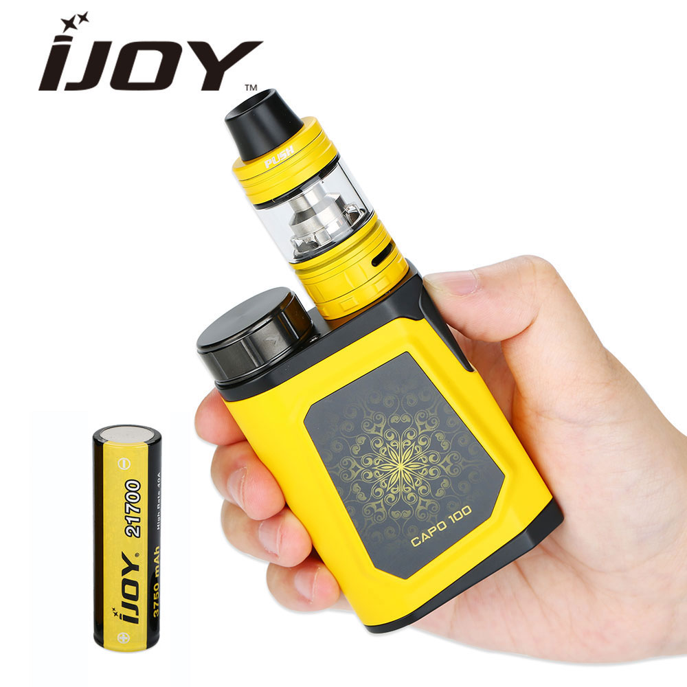 Original 100W IJOY CAPO 100 Vape Kit with 3.2ml/2ml Captain Mini SUBOHM Tank & 3750mAh 21700 Battery E-cigarette Kit VS alien original ijoy saber 100 20700 vw kit max 100w saber 100 kit with diamond subohm tank 5 5ml