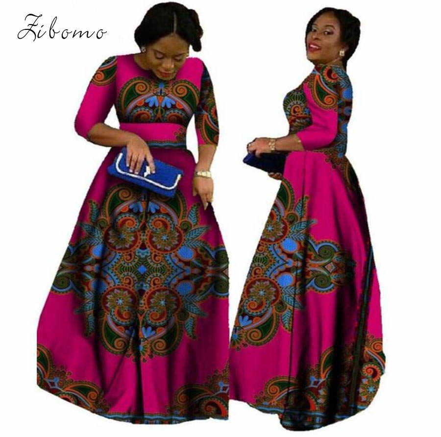 8b65d39f3ca3 2018 african dresses for women wax fabric print banquet formal maxi plus  big size african clothing