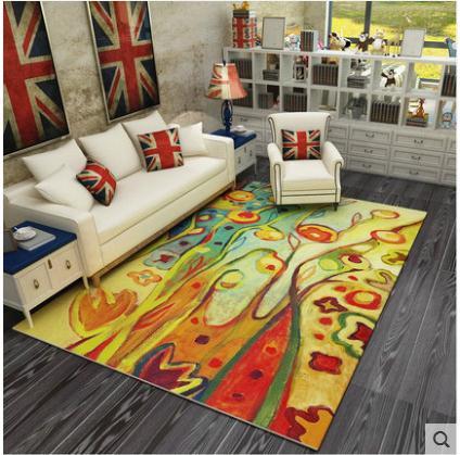 Noir et blanc tapis Pour salon Personnalité créative tendance Crâne Impression tapis De Yoga tapis logo personnalisé taille tapis tapis salon