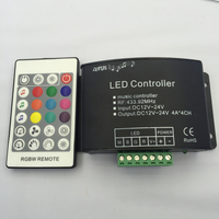 2 Pcs RGBW Music Controller With 24 Key RF Remote Dream Color Led Music Rgbw Controller