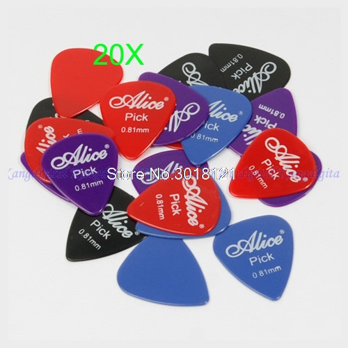 20 X 0.81mm Smooth Nylon Plectrum electric Guitar Picks Pick Plectrum New
