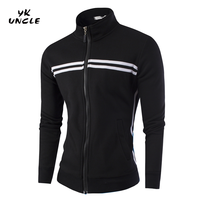 2016 New Brand Mens Sportswear Hoodies Striped Zipper Men Tracksuits Stand Collar Sweats ...