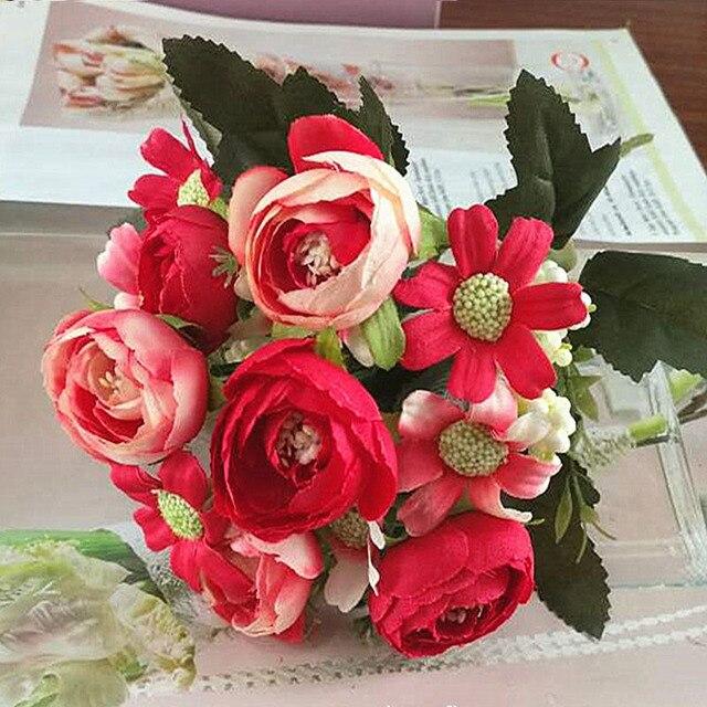 1 bundle artificial flowers cheap home photography wedding 1 bundle artificial flowers cheap home photography wedding decoration for vases fake plastic flowers silk rose junglespirit Images