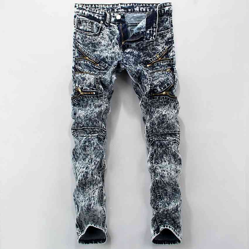 #1515 Designer jeans men high quality Mens designer jeans High street Cheap-clothes-china Rock jeans Motorcycle Hip hop jeans