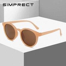 SIMPRECT 2020 Retro Round Sunglasses Women Black Big Mens Su