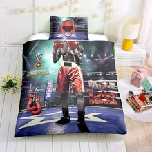 pilot boxer 3D character printing bedding set Children single size comforter sets bed linen kids Room decor