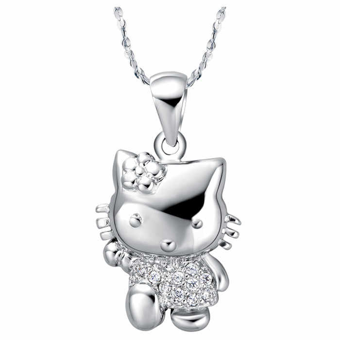35d04d527 X398 New Arrival Crystal Hello Kitty Necklace & Pendant Fashion Statement  Necklace For Women Girls Birthday