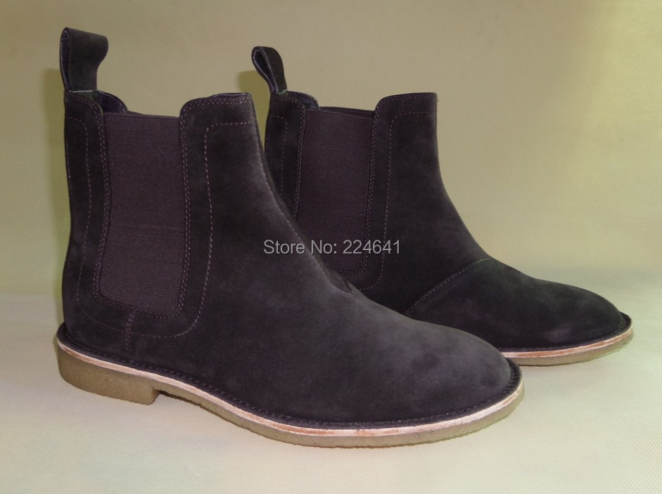 2016 men chelsea boots kanye west boots leather 1:1 style  Euro40-44 - Men's Shoes - Photo 2