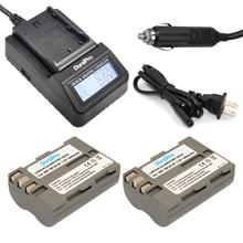 DuraPro 2Pcs EN-EL3e Battery + LCD Extremely Fast Charger for Nikon D200 D300S D300 D100 D700 D70S D80 D90 D50 MH-18A