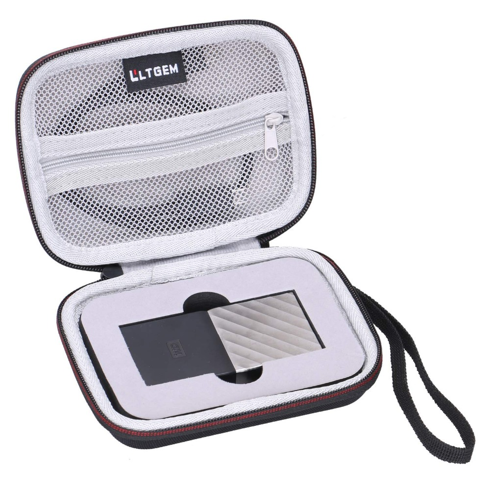 LTGEM EVA Hard Case For WD My Passport SSD Portable Storage 1TB & 2TB & 256GB & 512GB - Travel Protective Carrying Storage Bag
