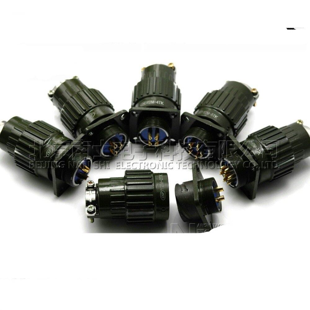1 set 2/3/4/5/7/10/14/16 broches YP21/Y2M série ensembles Aviation mâle prise + Aviation femelle connecteur câble Joint 3 P (prise et prise)