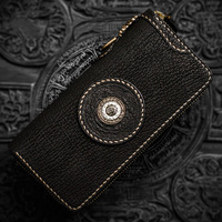 Snow covered Tibetan women wallets shark skin mystery magic characters men's wallet luxury brand vintage clutch purse