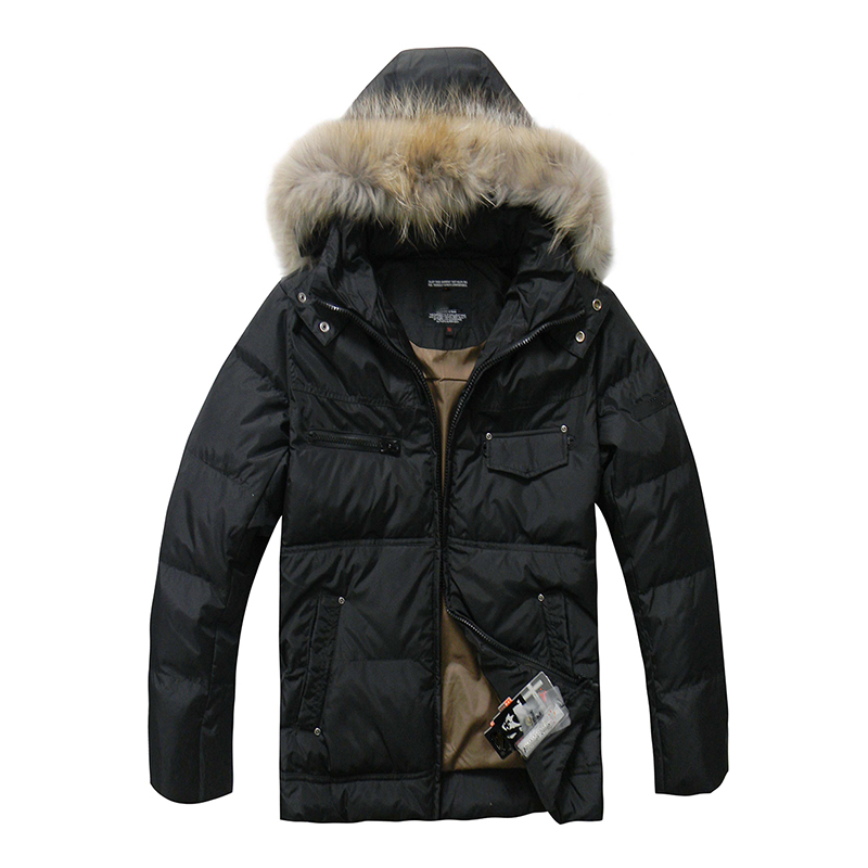 2018 Hot Sale Men   Down   Jacket Winter   Down     Coats   White Duck   Down   Real Raccoon Fur Fashion Winter Men   Coats   Outwear Parka Overcoat