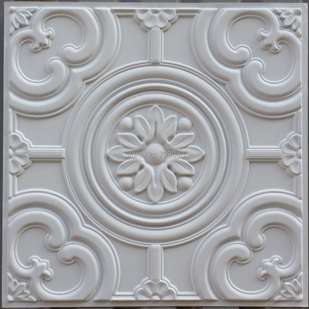 pl50 faux finish 3d emboss ceilings tiles matt white cafe club pub