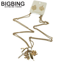 BIGBING fashion jewelry set fashion golden leaf Earrings Necklace jewelry set high quality free shipping S326(China)