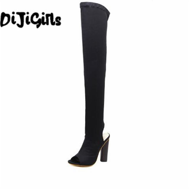 85c9774b0c2 DiJiGirls Women Shoes Over The Knee Boots Sexy Thigh High Boots 2018 Summer  Ladies Fashion High Heels Boots Shoes Woman SIZE 42