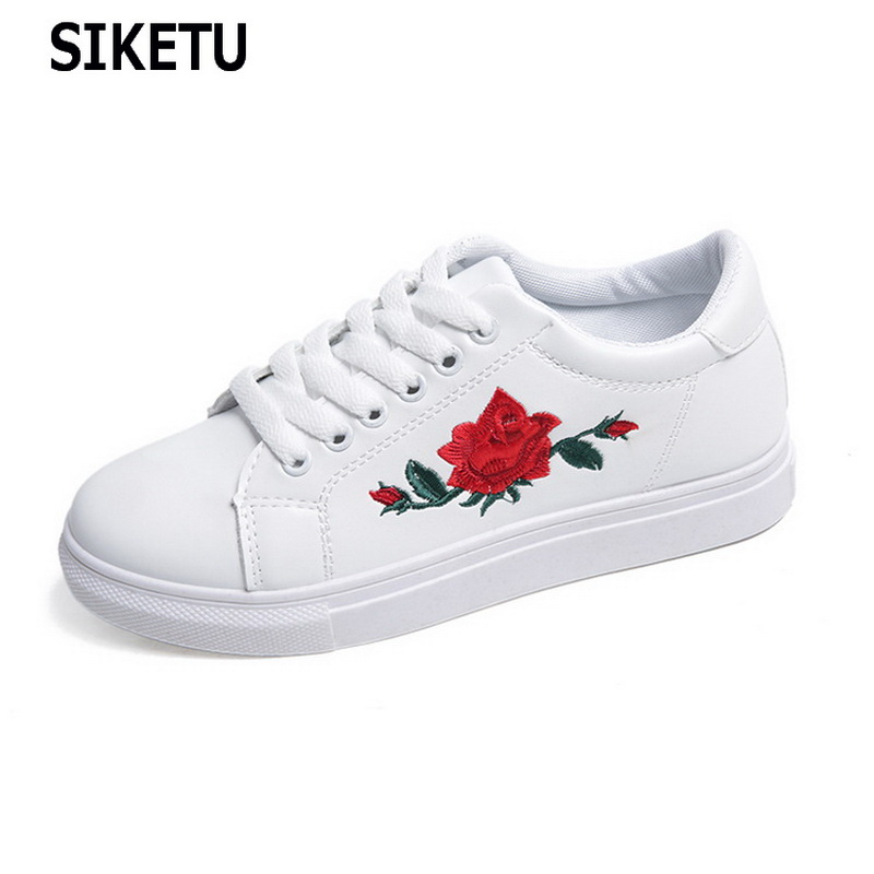 Skateshoes Rose 7.5 Loisirs Flats de toile Casual respirant Lace Up confortable de skate zhRFF