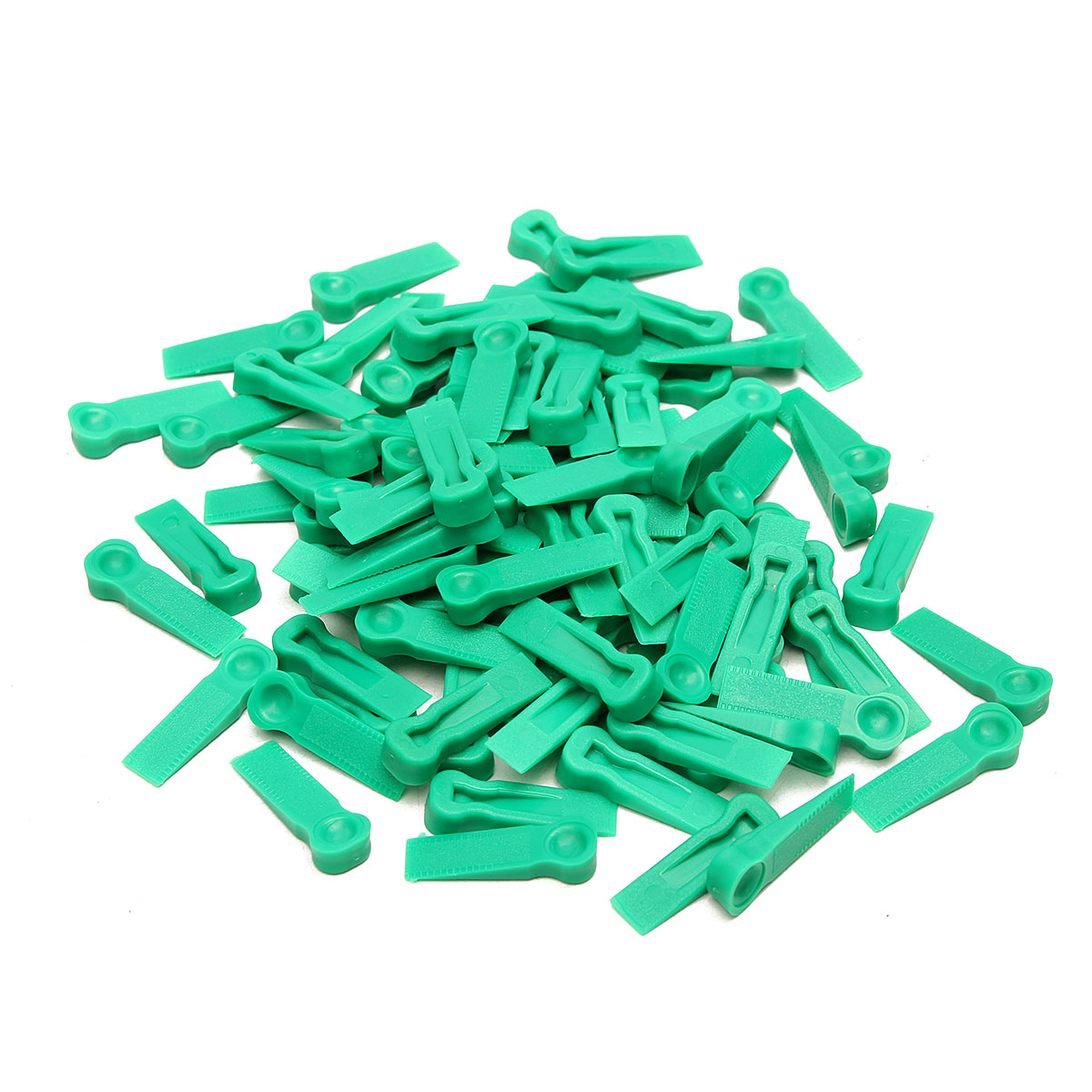 100pcs Wedges Floor Wall Tile Leveling System Tile Spacers Bulding Tool 6mm Green Ideal for variable spacing thyssen parts leveling sensor yg 39g1k door zone switch leveling photoelectric sensors