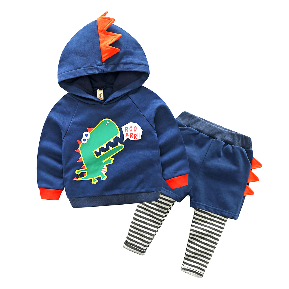 Cute Childrens Clothing Set Spring Baby Boy Girls Fashion Hoodies + Pants 2 Piece Set 2-6 Kids Cartoon Shirt + Casual Pants