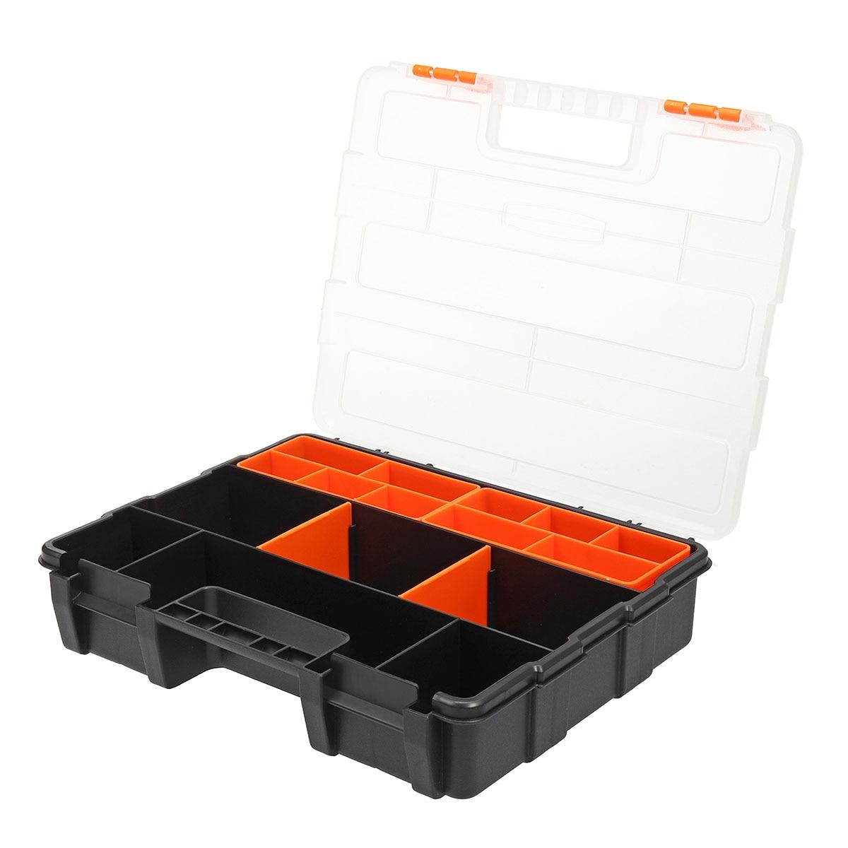 Spanner Screw Parts Hardware Organizer Box Kit Tool-Box Storage Plastic Carry Tool Storage Case