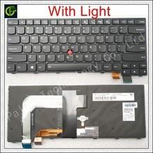 Teclado retroiluminado inglés para LENOVO T460S T460P T470S T470P ThinkPad 13 2nd (20J1 20J2) Nuevo S2 (2nd Gen 20J3) laptop US negro