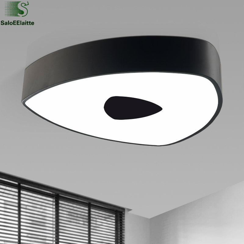 Modern Simple Geometric Triangle Metal Led Dimmable Ceiling Lamp Acrylic Mask Led Ceiling Light For Bedroom Indoor Lighting vemma acrylic minimalist modern led ceiling lamps kitchen bathroom bedroom balcony corridor lamp lighting study
