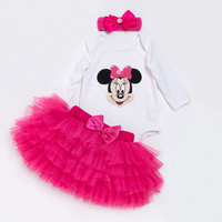 Set For Cute Baby Girl Clothes Long Sleeve T Shirt Rose Red Tutu Skirts Baby Multicolor