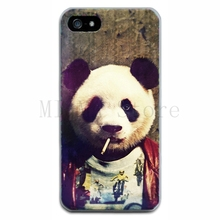 Smoking Bear Style TPU Phones Case For Apple iPhone 5 5s Ultra Thin Shock Proof Back Cover Bag For iPhone5