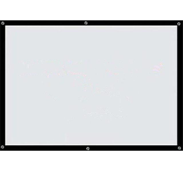 buy 120 inch hd portable white projector screen 16 9 wall mounted tabletop. Black Bedroom Furniture Sets. Home Design Ideas