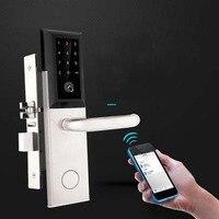 Дропшиппинг Bluetooth безопасности входной двери замок электронный Комбинации цифровой пароль блокировки двери Smart кодовый замок с карты
