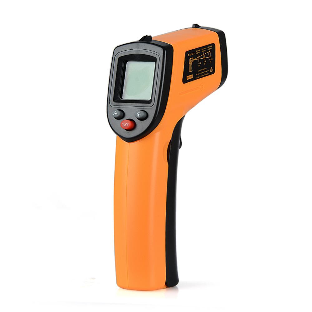 New Non-Contact IR Infrared Laser LCD Digital Thermometer GM320 Temperature Meter Gun Point -50~380 Degree Thermometer an550 laser lcd digital ir infrared thermometer temperature meter gun 50 500c 58 1022f non contact temperature meter gun