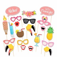 Photo Booth Props Hawaii Luau Summer Party Wedding Birthday Party Photo Booth Props Kit Party Favors