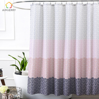 Aimjerry Bathroom Shower Curtain With 12 Hooks 72Wx80H Freeshipping