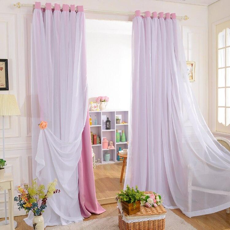Personnalisé princesse beauté nouveaux modèles coréens mat complet rideaux occultants pour salon blanc tulle/rideaux transparents pour la chambre des filles