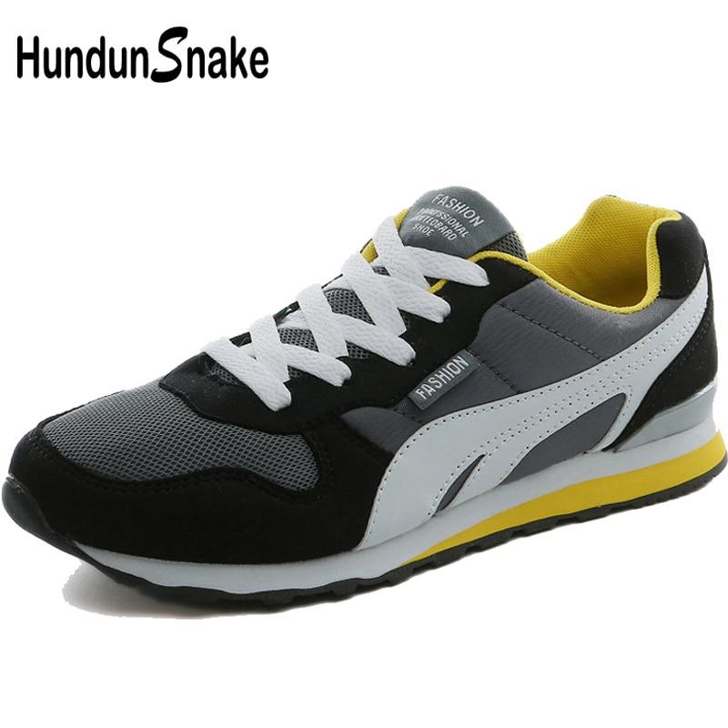 Hundunsnake Black Mesh Man Sneakers Male Sports Shoes Men Breathable Mesh Sport Shoes Men 2018 Men's Running Shoes Krasovki T613