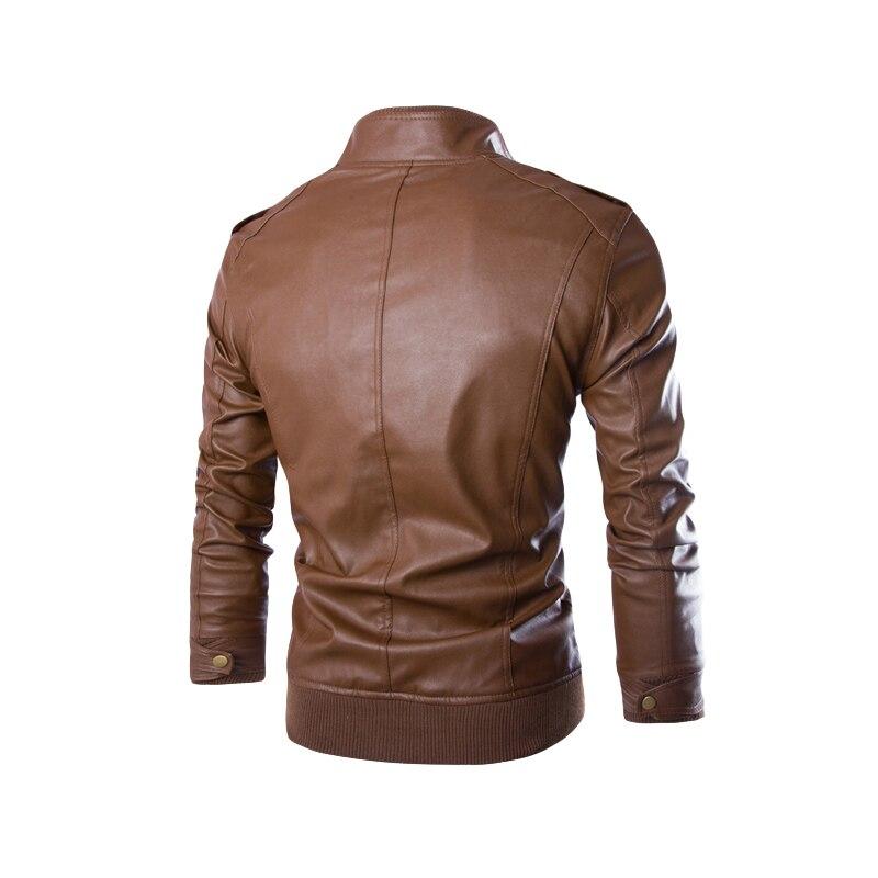 2016 новая мода Пу кожаная куртка мужчины jaqueta де couro masculina марка мужские куртки и пальто тощий подходят мотоцикла