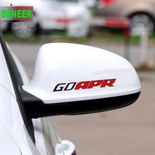 2pcs Car Rearview Mirror Sticker For Volkswagen Apr Golf6 Golf7 Polo Sagitar B6 R36 B7L