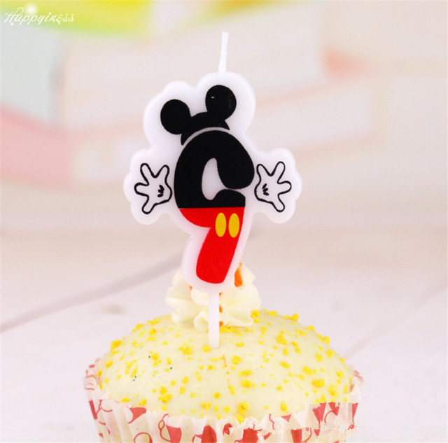 Number 9 Candle Mickey Mouse Party Supplies Birthday Cake Anniversary Numbers For Girls And Boys