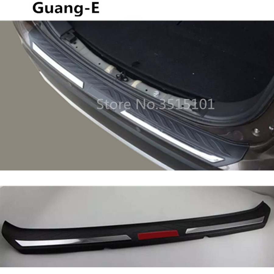 Top Quality car body external rear bumper Protect trunk trim cover plate pedal threshold For Mitsubishi Outlander 2016 2017 2018