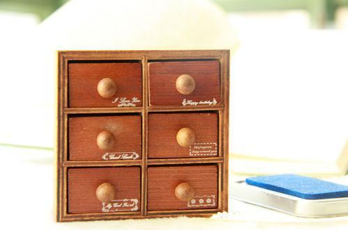 C31-159  Free Shipping / Funny Lovely best wishes drawer wooden Stamp Decoration Stamp / gift stamp