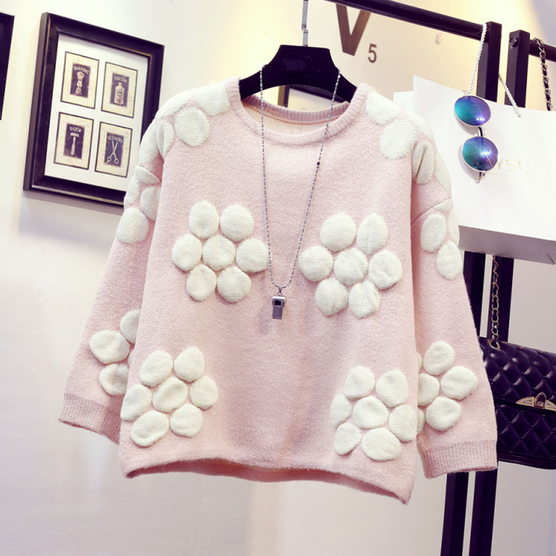 Women sweet preppy style 2018 autumn and winter pullover female basic short design sweater teenage girl outerwear