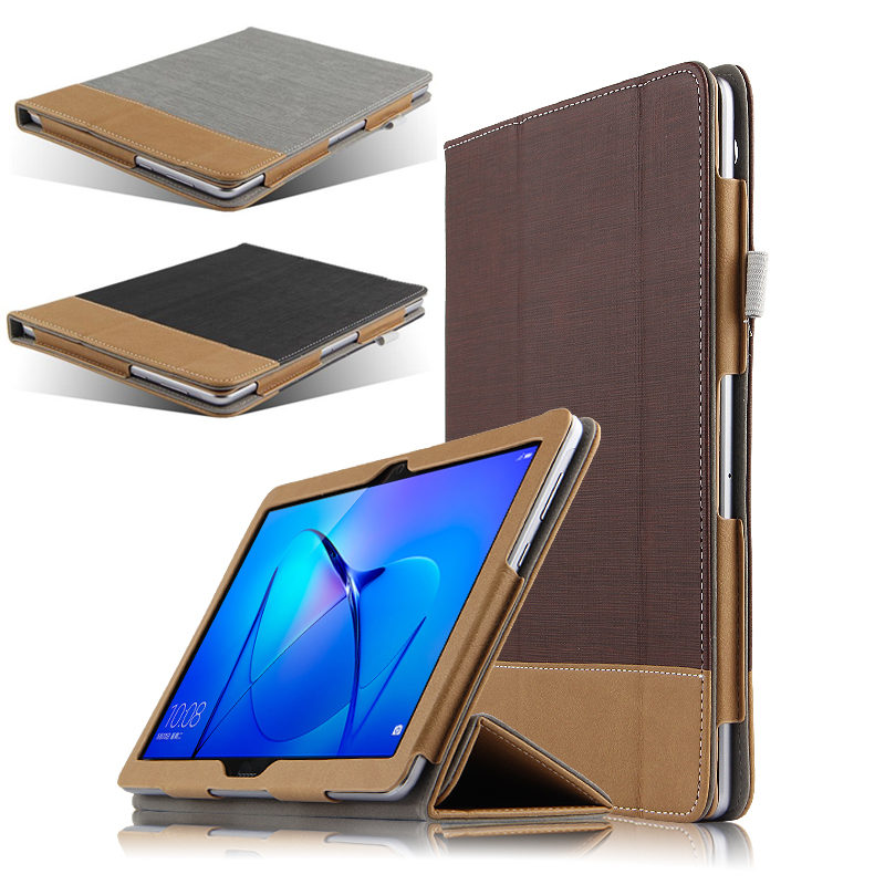 Case For Huawei MediaPad T3 10 Protective Shell Smart Cover Leather Tablet AGS-L09 AGS-L03 W09 T310 PU Protector Sleeve Cases flip pu leather case for huawei t1 10 9 6 t1 a21w tablet case for huawei mediapad t1 t1 a21l t1 a23l honor note smart cover