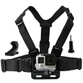 Chest mount harness j-gancho para gopro hero 5 4 3 + 3 2 1 Go pro SJ4000 SJ5000 SJ6000 H9R H9 H9SE Sessão