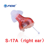 Mini Portable invisible Hearing Aid Machine Enhancer Small Inner Ear Care Amplifier Digital Hearing Aids right ear S 17A