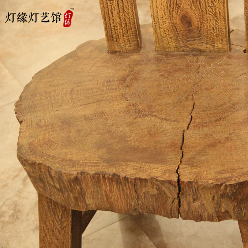 Original Ecological Garden Fresh And Natural Weathering Camphor Wood Seat  Comfort Casual Cafe Retro Wood Chair In Restaurant Chairs From Furniture On  ...