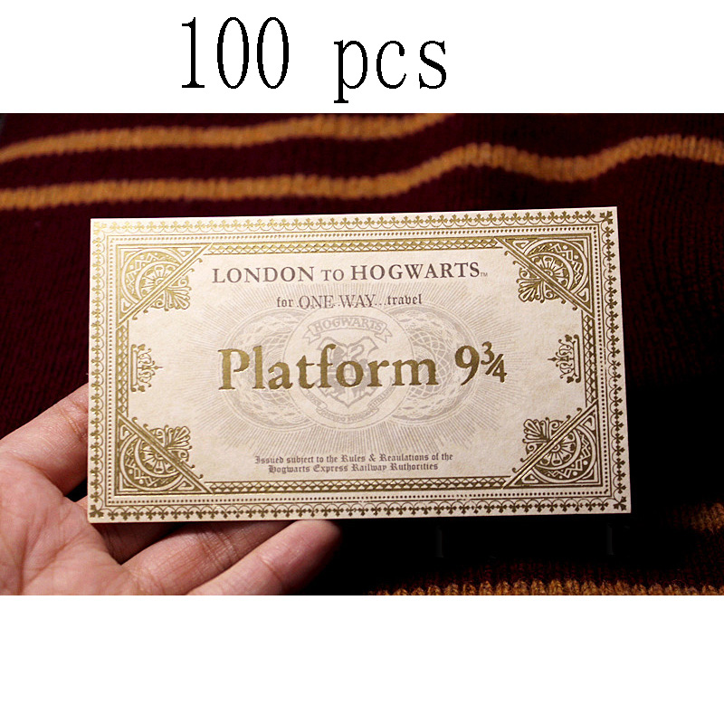 100 Pack Harry Hp Hogwart London Express Train Tickets free shipping